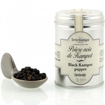 Sort pepper fra Kampot, 70g